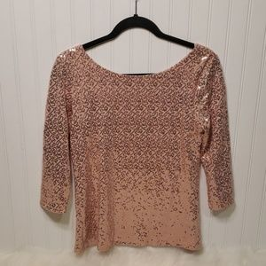 NWOT Gibson Dusty Pink 3/4 Sleeved Top